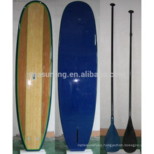 2015 Hot!!!! High quality bamboo veneer paddle board/wooden paddle board blanks