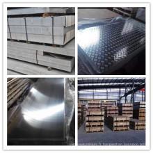 Feuille d'alliage d'aluminium 5A03 5A06 pour installations maritimes
