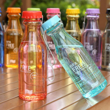 550ml Customized Logo Transparente Kunststoff Sport Wasserflasche (SLSB02)