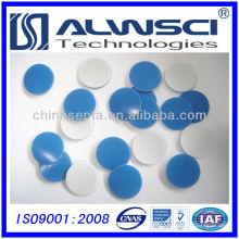 Septa de silicone branco de PTFE de 17,5 mm para tampa magnética