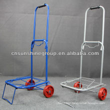 Portable collapsible folding trolley cart