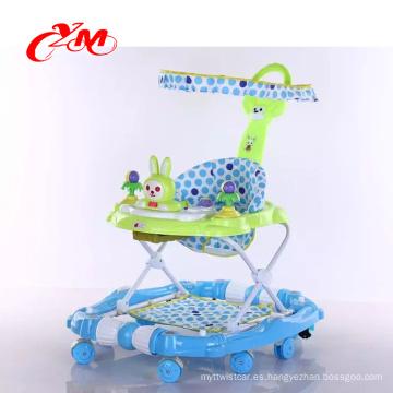 2017 Popular educativo niños walker niños andador para bebé / plástico multifuncional bebé andador / bebé andador cum oscilación PU rueda