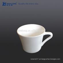 Bohemia alta suavidade branca fina xícara de porcelana e pires
