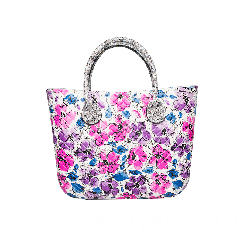 Flower Printing Tote Bag