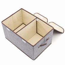 Контейнеры для мусорных баков из льняной ткани с крышкой и ручками