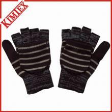 Mode Acryl gestrickte Magie Marled Handschuhe mit Klappe