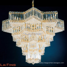 Star chandeliers lights glass gold pendant lamp for churches 62044
