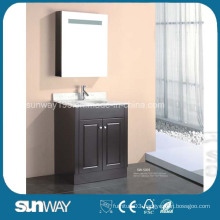 Floor Mounted MDF Bathroom Furniture with Mirror Cabinet