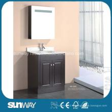 Напольная мебель для ванной комнаты с зеркальным шкафом
