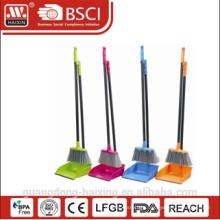 Haixing household colorul plastic dustpan set