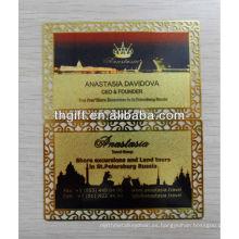 Tarjeta de metal Buda y tarjeta de visita