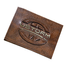 Custom design embossed printed PU hat with leather patch logo for garment accessory