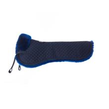 Almohadilla de media silla de piel de oveja de alta calidad