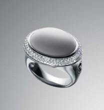 David Yurman White Agate Signature Oval Ring