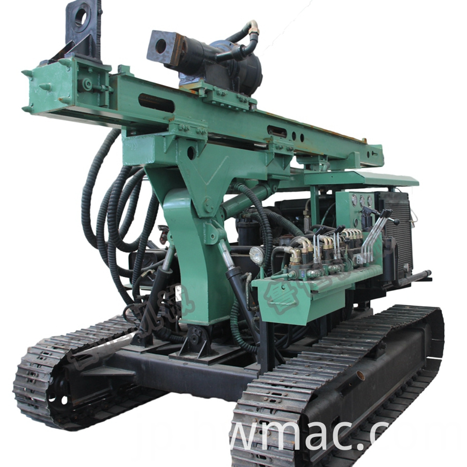 solar screw pile driver machine