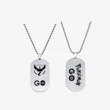 Étiquette de chien militaire en métal avec chaîne