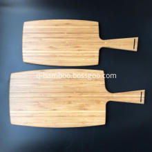 Large bamboo paddle cutting board with handle