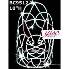 Corona de cristal de conejo de vacaciones y tiara