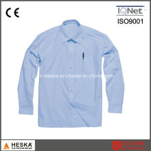 One Pocket Long Sleeve Office Formal Shirts