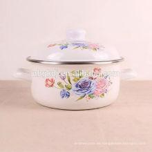 proveedor de China logotipo personalizado color negro olla de esmalte personalizado proveedor de China logotipo personalizado color negro olla de esmalte personalizado