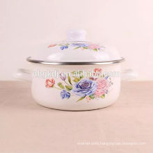 china supplier custom logo black color custom enamel pot  china supplier custom logo black color custom enamel pot