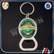 custom metal promotional bottle opener keychain