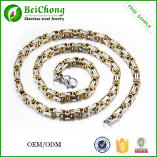 Men Golden Necklace Chain Display