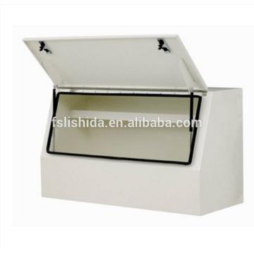 Caja de herramientas de camión de metal de acero inoxidable durabel de servicio pesado blanco Caja de herramientas de camión de metal de acero inoxidable durabel de servicio pesado blanco