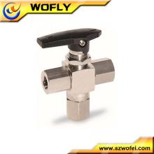 Válvula de compresión de acero inoxidable mini válvula de bola