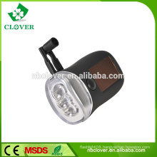 Solar power dynamo 3 led decorative rechargeable bike front light