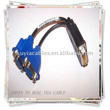 DVI-Splitterkabel 59 PIN TO 2 DUAL VGA FEMALE SPLITTER