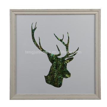 Luxo Design Deer Antler Shape Wall Decoração Fotos para casa, hotel, restaurante, escritório