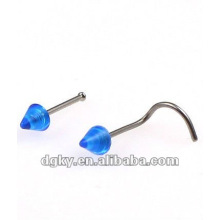 Hot sale nose piercing jewelry indian plastic nose stud