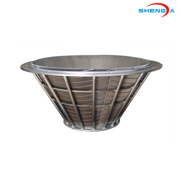 SS Johnson Wedge Wire Coal Centrifuge Basket