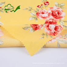 Printed flower woven plain crepe viscose rayon fabric