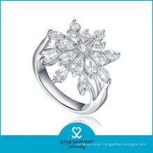 Vogue oval 925 anel de prata esterlina com preço barato (R-0575)