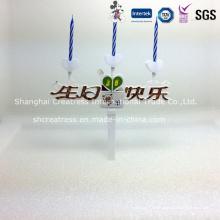 Vela de aniversário musical com suporte plástico