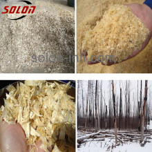 six heads wood sawdust board making machine