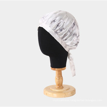 100% pure silk Custom Bonnet with Logo and Wholesale ribbon style