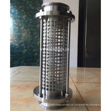 Aço inoxidável inline longo estilo vista vidro com tri-grampo termina