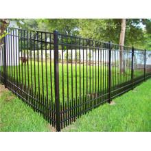 Panneau de clôture en piquet en acier de couleur noire / clôture en aluminium