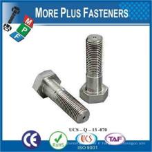 Fabriqué en Taiwan DIN 6914 en acier inoxydable en acier au carbone Heavy Hexagon Structural Construction Bolt