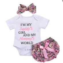 New Children′s Cotton Wear Baby Romper Set Short Skirt Baby Set