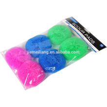 Plastic Pan Scourers, Colorful Kitchen Cleaning Plastic Mesh Scourer