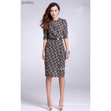 Chiffon-Material Floral bedrucktes Kleid für Damen Elegante