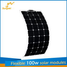 100W Semi Flexible PV Panel for Rvs and Long-Haul Trucks