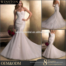 Fornecer todos os tipos de organza borboleta capuz pescoço comprimento do chá vestidos de noiva