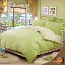 Lino de impresión de algodón / poliéster cepillado de color verde