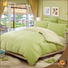 Green colour Brushed cotton/polyester printing bedding set
