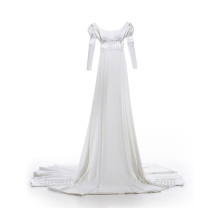 Astergarden scoop neckline wedding dress A-line sleeveless straple ruffle bridal gown TS214